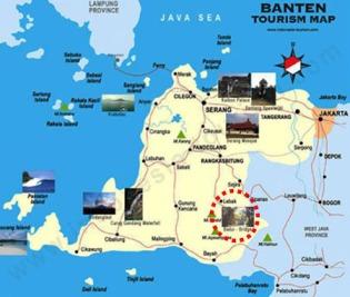 Peta menuju kampung  Baduy