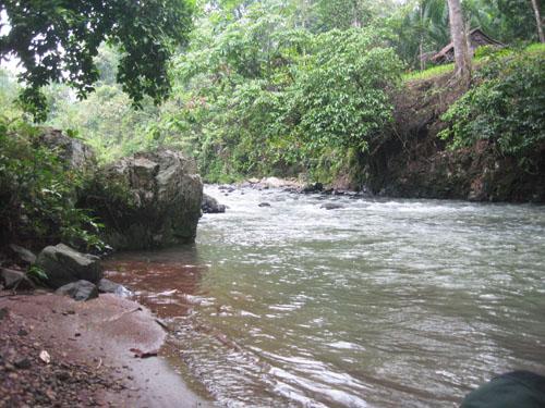 Sungai di wilayah Baduy Dalam