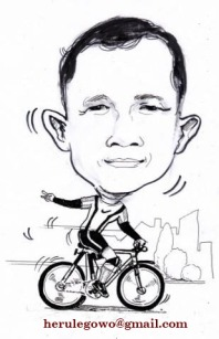 HL naik sepeda karikatur