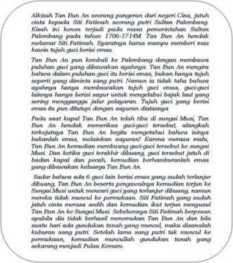 Legenda Kemaro Tan Bun An Siti Fatimah
