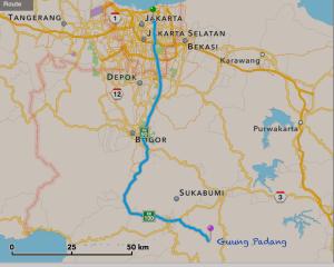 Gn Padang peta